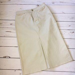 NWOT J. Crew Khaki Cotton Pencil Skirt